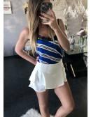 Mon short/jupe blanc et volants