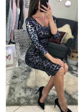 "Ma superbe robe léopard ""gris métallisée"""