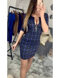 """Ma superbe robe à carreaux """"bleu roi"""""""