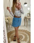 Ma superbe jupe bleue et fines rayures