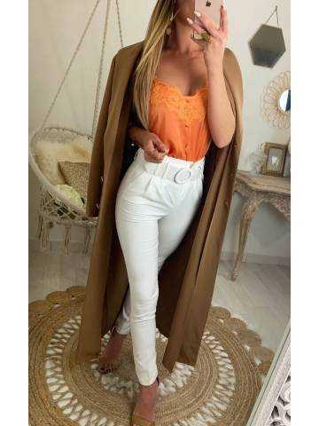 Mon long Manteau/robe caramel