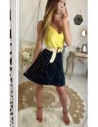 """Ma jolie jupe plissée """"black et motif gold"""""""