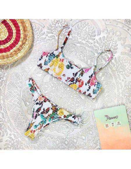 "Mon petit bikini ""white & flowers"""