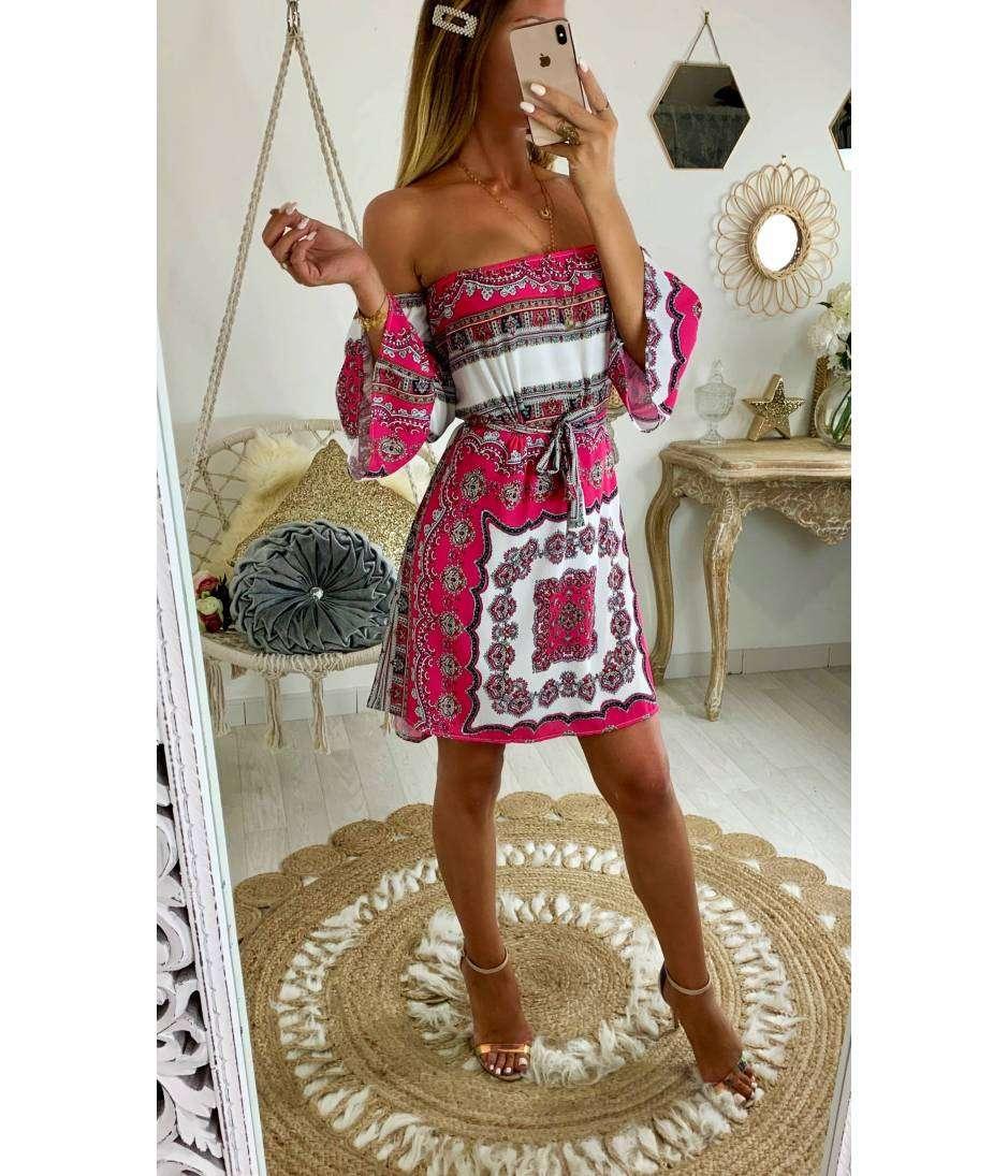 "Ma jolie robe ""imprimé foulard rouge"""