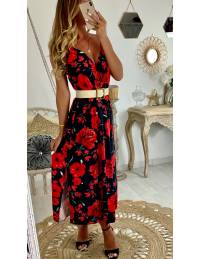 Ma robe longue cache coeur & flowers red