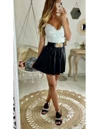 "Ma jupe black style cuir ""plissée"""