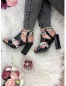 Mes sandales black and silver