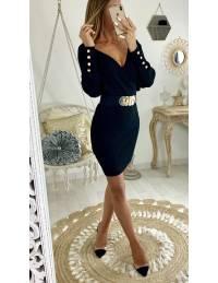 "Ma robe en maille black ""joli cache coeur"""