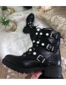 """Mes bottes à lacet """" black & pearls"""""""