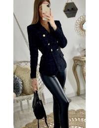 "Mon blazer black ""tweed lumineux"" 2"