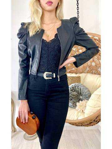 Ma  Jolie veste noir style cuir