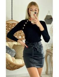 "Ma jolie jupe black enduit ""taille haute"""