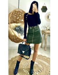 Ma jupe style cuir kaki  & zippée