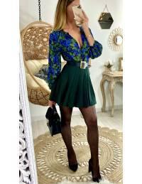 Mon joli chemisier blue/green & gold