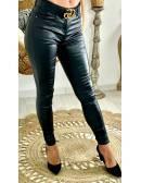 """Mon jeans black enduit """"paillettes"""""""