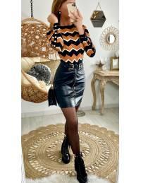 Ma jupe style cuir black & zippée