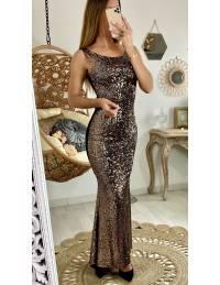 "Ma sublime robe longue ""Gold Sequins"""