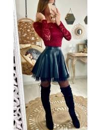 "Ma jolie jupe black ""style cuir et tulle"""