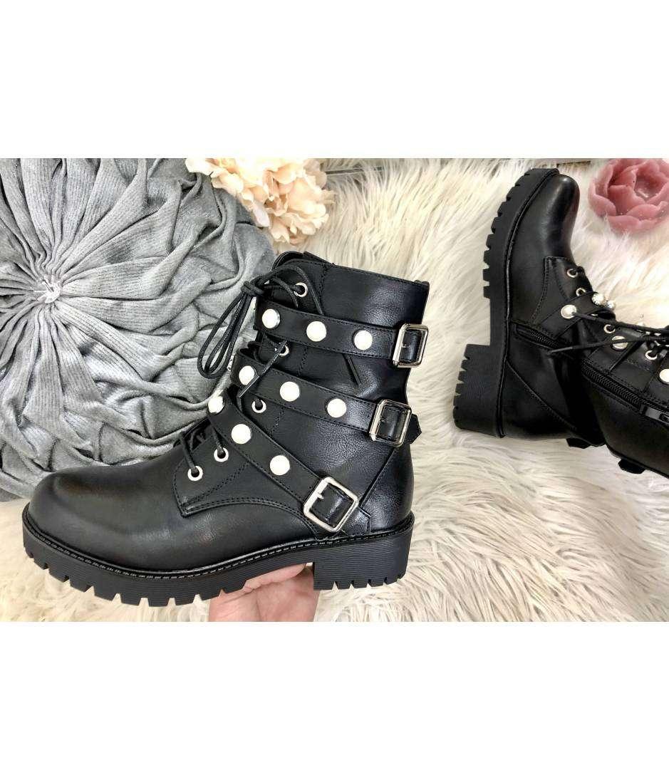 """Mes bottes à lacet """" black & pearls"""" 2"""