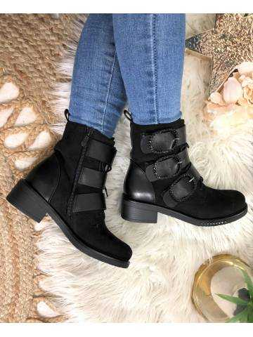 "Mes bottines noires ""Suede & Leather"""