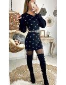 """Ma robe en maille noire """"jolis pois"""""""