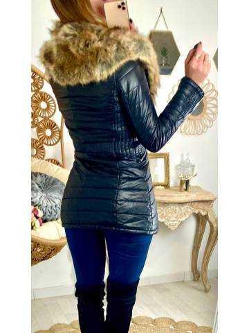 Ma doudoune style cuir