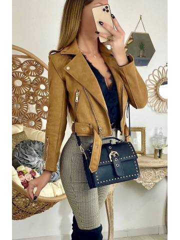 "Perfecto camel ""style daim"" 2"