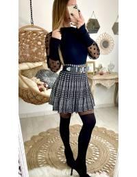 Ma jolie jupe plissée black & white