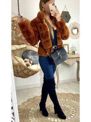 """Ma jolie veste """"style"""" fourrure camel"""