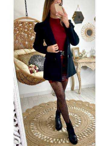 """Mon manteau noir style caban"""" épaulé"""""""