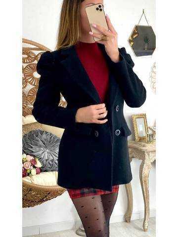 Mon manteau noir style caban