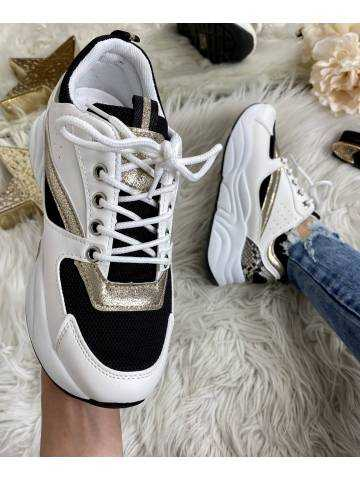 mes jolies sneakers white/gold