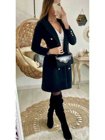 """Mon manteau noir """"jolis boutons"""""""