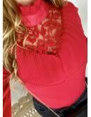 """Ma jolie blouse rouge """"col plissé"""""""