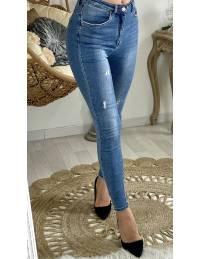 Mon jeans basic bleu usé