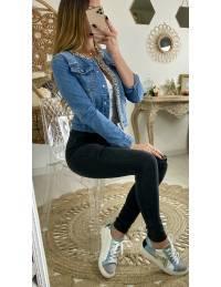 """Ma veste en jeans """"Perles & strass"""""""