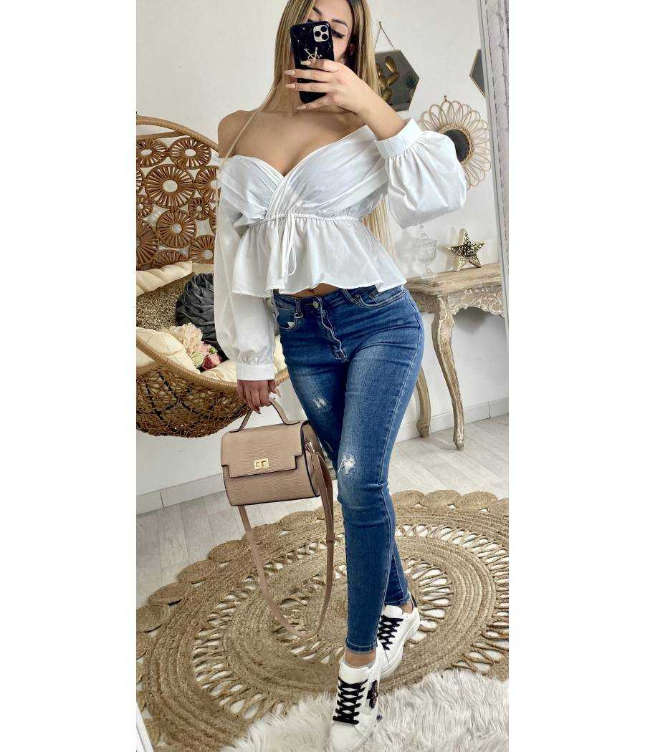 "Ma jolie blouse blanche ""cache coeur"""