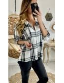 Ma chemise fluide à carreaux black & white