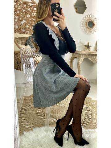 """Ma jolie jupe évasée """"carreaux & bretelles"""""""