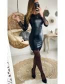 """Ma robe black style cuir & dentelle """"ceinturée"""""""