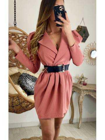 "Ma jolie robe rose blush ""épaule bouffantes"""