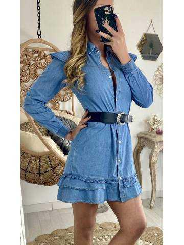 """Ma jolie robe en jeans """"boutonnée & volants"""""""