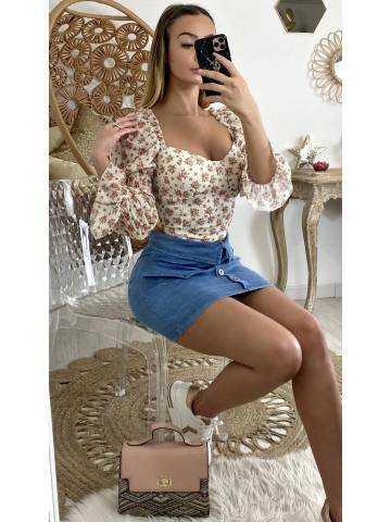 """Ma jolie jupe en jeans """" boutonnée et revers"""""""