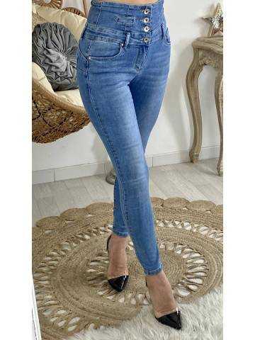 """Mon Jeans taille haute """"boutonné"""""""
