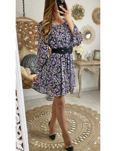 """Ma jolie robe fluide """"flowers purple"""""""