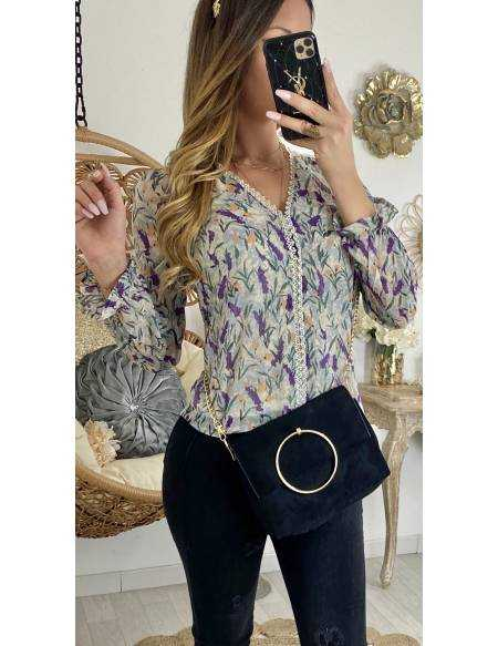 "Ma jolie blouse ""flowers purple & dentelle"""