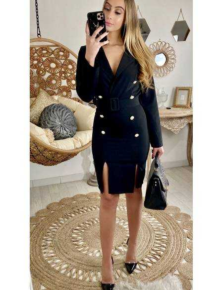 """Ma robe noire """"style trench"""""""