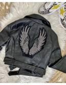 "Mon petit perfecto noir style cuir ""angels"""