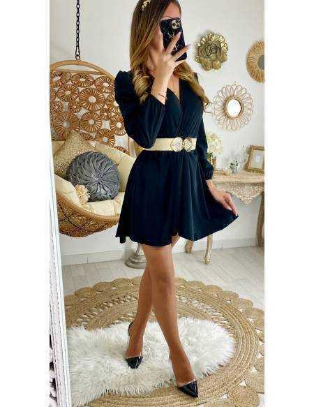 "Ma jolie robe black ""cache coeur"""