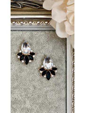 "Boucle d'oreille ""diamond flower"""
